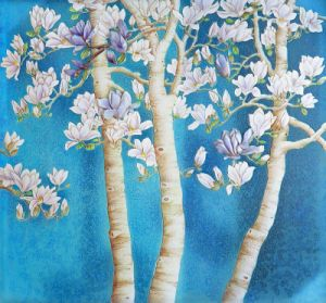 2017 Hot Item Wholesale Digital Printed Tree Series Oil Painting (Model No: HX-4-053) pictures & photos