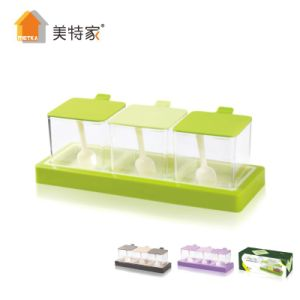 6353 Metka Kitchen Supplies Hardcover Plastic Spice Box Condiment Container 3 pictures & photos