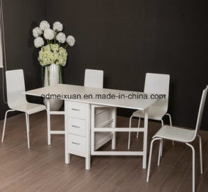 Mensal Chair Combined Environmental Protection Board Type Furniture a Table Four Chairs Contracted and Contemporary Dining Tables and Chairs (M-X3729) pictures & photos