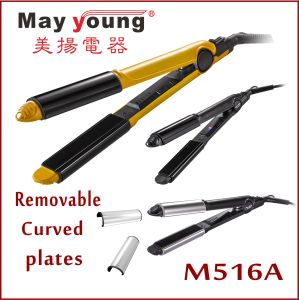Hot Sell Multifunctional 4 in 1 Changeable Plate Hair Curler Iron Hair Straightener pictures & photos