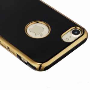 Electroplate TPU Phone Case for iPhone 6 6s 7 Plus Case 4D Laser Carving Mirage Black Electroplating Soft Phone Cases (XSDD-087) pictures & photos