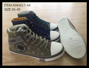 Latest Design Injection Canvas Shoes Comfort Shoes Cowboy Boots (XHH417-44) pictures & photos
