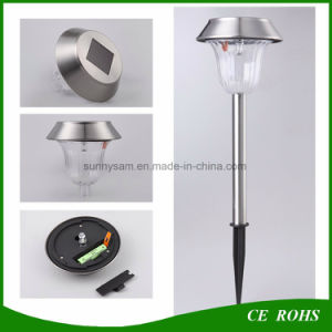 Stainless Steel Solar Powered Stake Light Garden Lamp Post Solar Lawn Lamp Solar Pathway Light pictures & photos