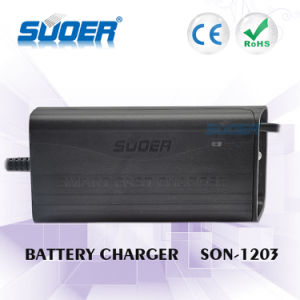 Suoer RoHS Approved 12V Lead Acid Car Battery Charger 12V Charger (SON-1203) pictures & photos