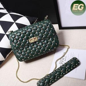 Fashion Studded Shoulder Bag Genuine Leather Women Handbags Best Seller Emg4798 pictures & photos