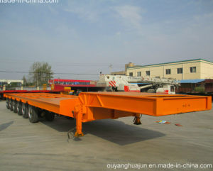 2 Axles Low Bed Vehiche Semitrailer pictures & photos