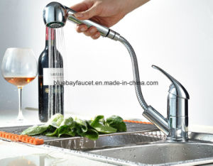 Modern Polished Chrome Pull out Brass Kitchen Faucet pictures & photos