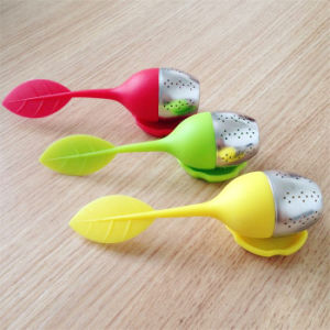 Wholesale Leaf colorful Silicone Tea Infuser pictures & photos