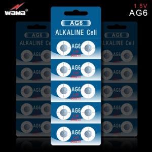 AG6 1.5V 33mAh Alkaline Button Cell Battery