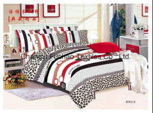 Poly/Cotton Fabric Bedspread Bedding Set Bed Cover Sheet pictures & photos