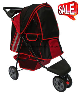 3-Wheels Pet Carrier Stroller Dog Outdoor Travel Bb-PS02 pictures & photos