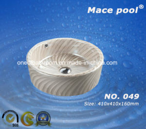 Hot Sale Bathroom Ceramic Art Basin Hand Washing Sink (049) pictures & photos