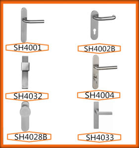 Jiangmen Hot Sale External Door Handles with Longplate pictures & photos