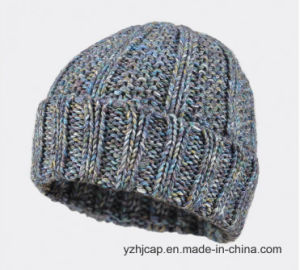 Acrylic Jacquard Knit Hat POM POM Knitted Hat Beanie Hat pictures & photos