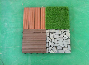 WPC DIY Decking Tile for Outdoor Use with Ce Dt- 003 pictures & photos