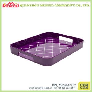 Custom Rectangular Melamine Plastic Serving Trays pictures & photos