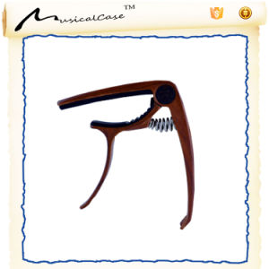 Zinc Alloy Guitar Capo (wood color) pictures & photos