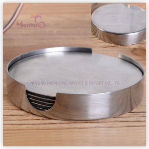 Round Shaped Stainless Steel Heat Insulation Cup Coaster 10*2cm pictures & photos