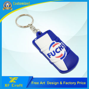 Novelty PVC Rubber Key Chain /Wholesale Plastic Key Ring Tag for Souvenir Gift (XF-KC-P23) pictures & photos