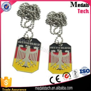 Zinc Alloy Brushed Bronze Plated Military USA Souvenir Dog Tag pictures & photos