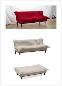 Chinese Style Folded Sofa Bed with Thin Cushion pictures & photos