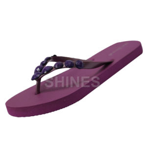 Purple Acrylic Thong Flip Flop for Women