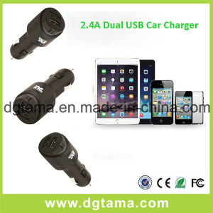 5V 2.4A Dual USB 2 Ports Car Cigarette Charger Adapter pictures & photos