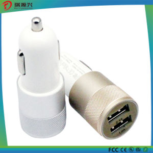 Stainless Steel Material Double USB Car Mobile Charger From China pictures & photos