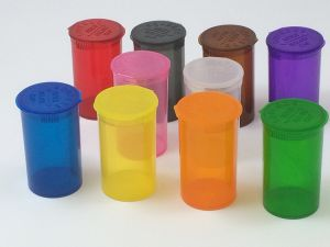 13 DRAM Pop Top Vial Squeezies Squeeze-Top Pill Bottles Rx Pill Bottles Prescription Crafts Coins Storage Medicine Containers 10 Assorted Colors You Pick pictures & photos