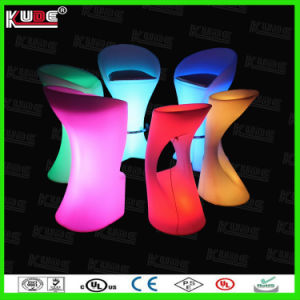 PE Outdoor Commercial Bar Stools / LED Bar Furniture pictures & photos