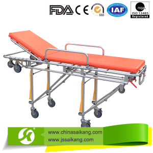Hospital Folding Stretcher Trolley with Height Adjustable pictures & photos