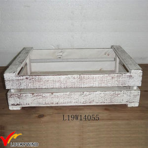 Small Rustic White Fir Wood Planter Boxes pictures & photos