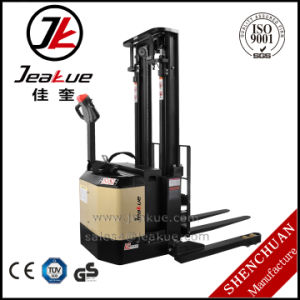 Jeakue 1.4-1.8t Wide Supporting Leg High Hydraulic Lifting Electric Stacker pictures & photos