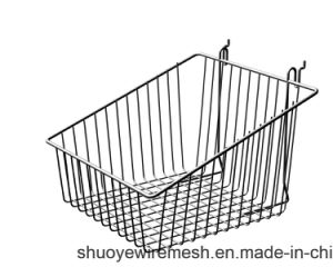 Custom Powder Coating Pegboard Iron Wire Mesh Hanging Basket pictures & photos