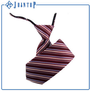 Men′ S Fashion High Quality Stripes Zipper Tie Micorfiber Custom Wholesale pictures & photos