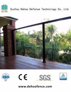 Customized Black Powder Coated Ornamental Glass Fence with High Quality pictures & photos