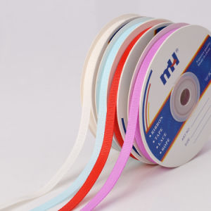 "1/4"" Polyester Grosgrain Ribbon pictures & photos"