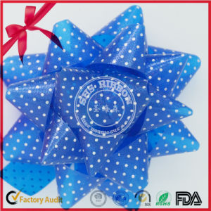 Solid PP Plastic Ribbon Gift Star Bow pictures & photos