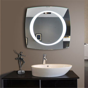 Square Beveled Full Length Wall Mounted Mirror with Lighted pictures & photos