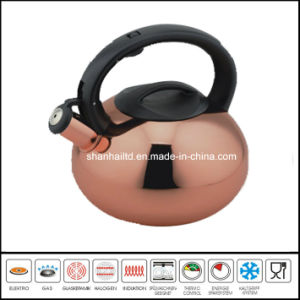 Copper Plated Whistle Kettle pictures & photos