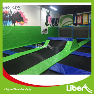 TUV Approved Big Trampoline Workout with Foam Pit Trapeze pictures & photos