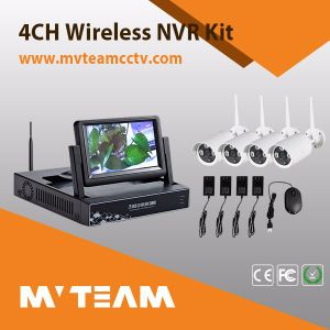 4CH WiFi Wireless Camera Kit Built-in Screen and WiFi Module (MVT-K04) pictures & photos