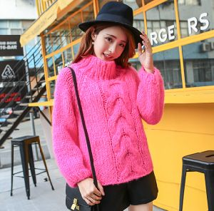Custom Ladies Hand Knit Sweater Cardigan Pullover Apparel Knitwear pictures & photos