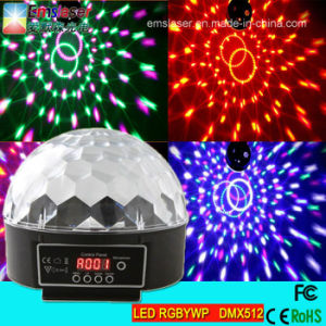 LED Crystal Magic Ball Light Six Color LED Stage Ball Light Disco Party Light with DMX512 pictures & photos