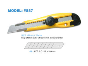 18mm Screw Locking Cutter Knives with Plastic Handle pictures & photos