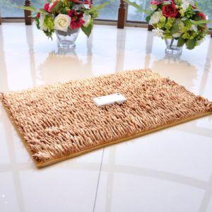 PVC Non Slip Shinny Shaggy Chenille Carpet pictures & photos