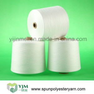 20s 20/1 100% Virgin Bright Polyester Knitting Yarn in Raw White pictures & photos