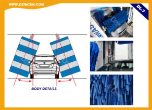Dericen Dl7 Rollover Automatic Car Wash Equipment with Tire Wash Brushes pictures & photos
