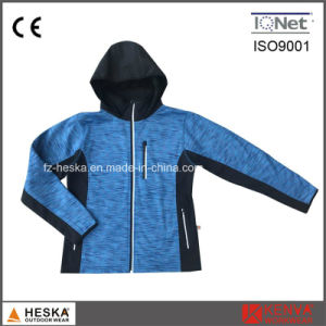 Womens 3 Layers Long Sleeve Fashion Bonded Windproof Knitted Jacket pictures & photos