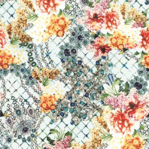 Garment Fabric Flower Pattern Digital Printed Silk Fabric (XF-0068) pictures & photos